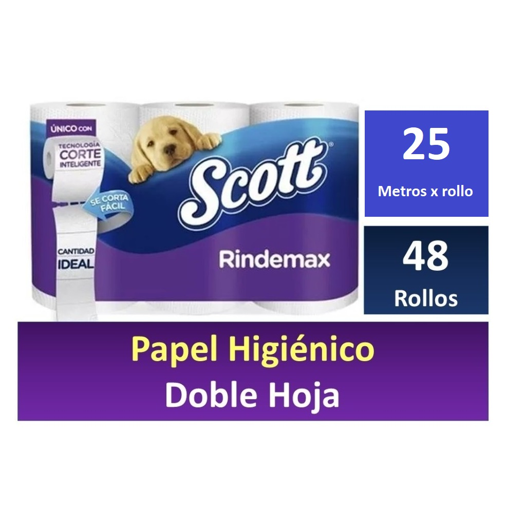PAPEL SCOTT 25 METROS DOBLE HOJA