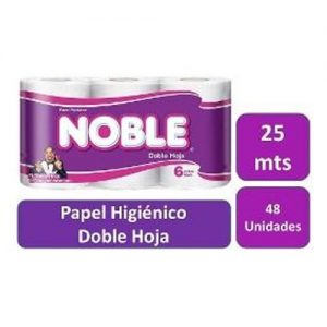 PAPEL NOBLE 25 METROS DOBLE HOJA Paquete 8X6